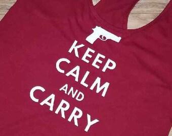 5b65048e7556 Keep calm and carry tank top