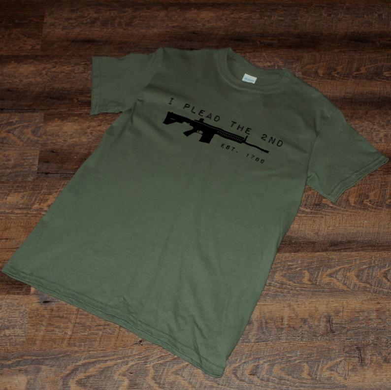 20960e003 I plead the second rifle t-shirt 2nd amendment shirt funny   Etsy