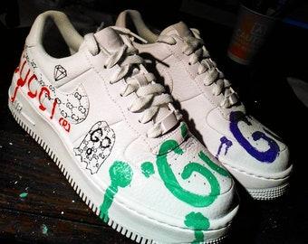 Supreme ,louis vuitton, LcCustom Adidas Gazelle,custom
