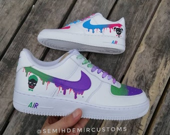 f6af55f12636df Custom Nike Air Force Joker and harley quinn