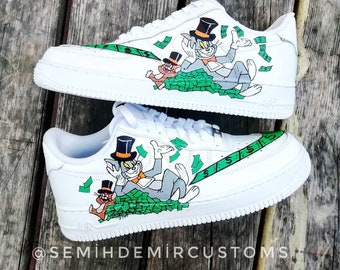 70ce12246ec Custom Nike Air Force tom and jerry
