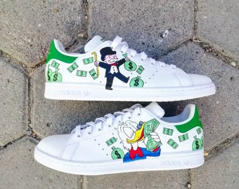 size 40 e8f68 62bc6 Custom Adidas stan smith,alecmonopoly,monopoly,Scrooge McDuck ,custom  sneakers ,custom shoes ,custom adidas ,custom kicks ,hand painted