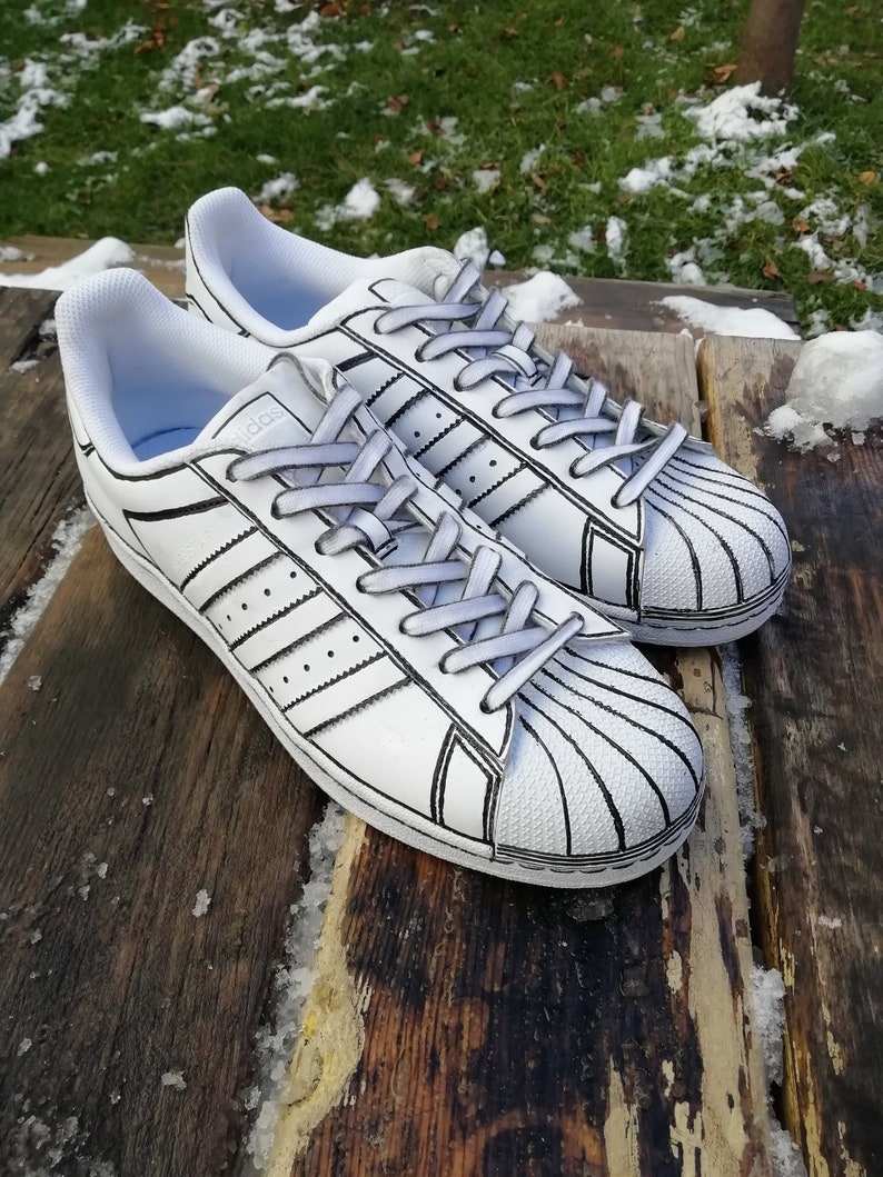 9ff2b6540fbd Comic book Custom adidas superstar custom sneakers custom