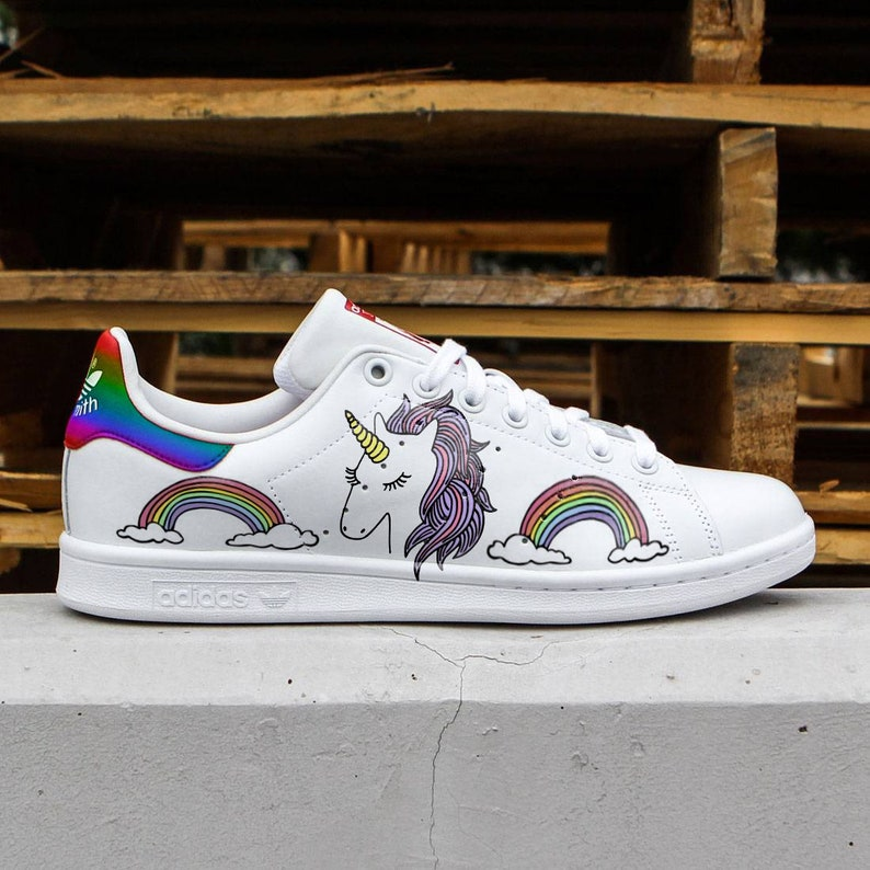 a01875e9f13e79 Custom Adidas stan smithunicornrainbowcustom sneakers