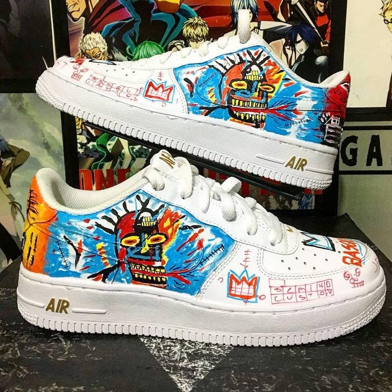 Basquiat Custom Nike Air Force One Custom Sneakers Custom Shoes Custom Nike Custom Kicks Hand Painted