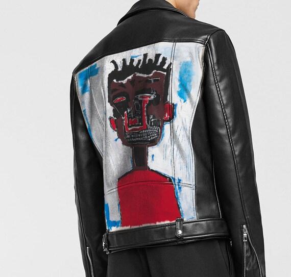 Custom Leather Jackets >> Basqiat Custom Leather Jacket Etsy
