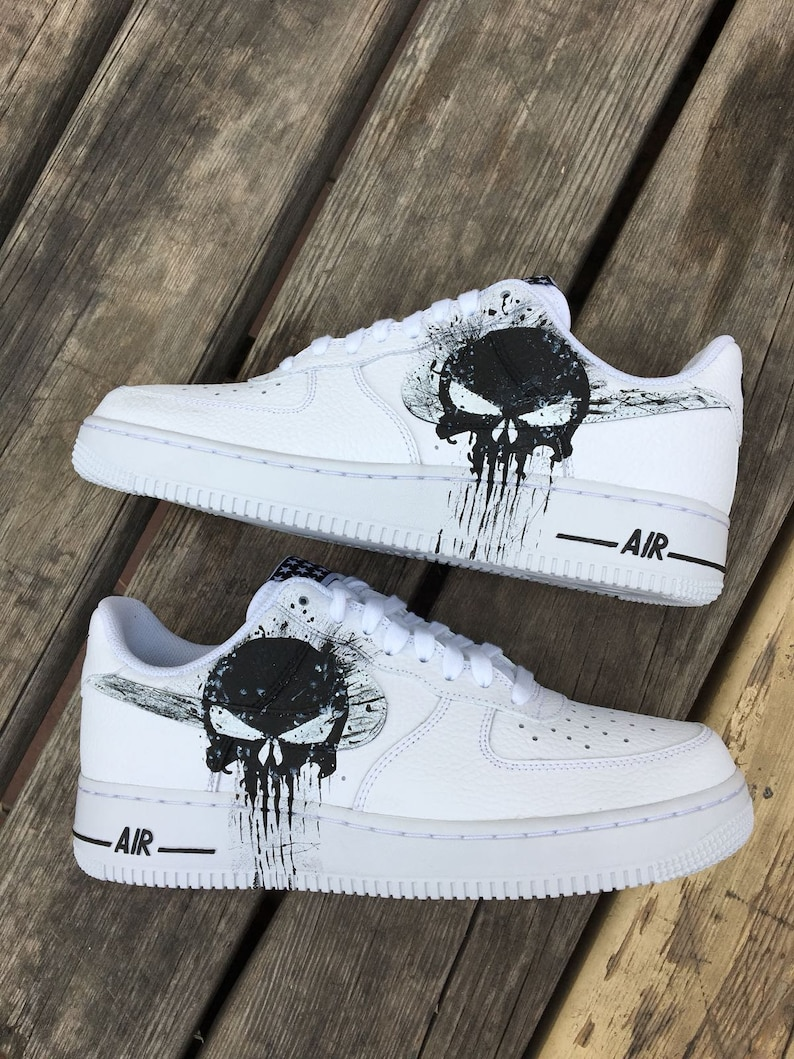 bdee4bccf4a Custom Nike Air Force one punishercustom sneakers custom