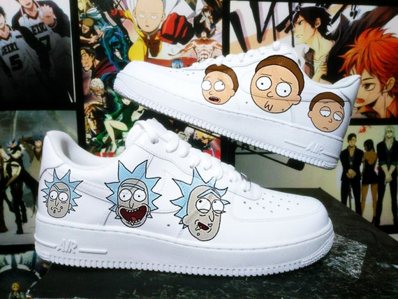 Air One And Mortycustom Etsy Nike Force Sneakers Rick Custom 5wqUp6txU
