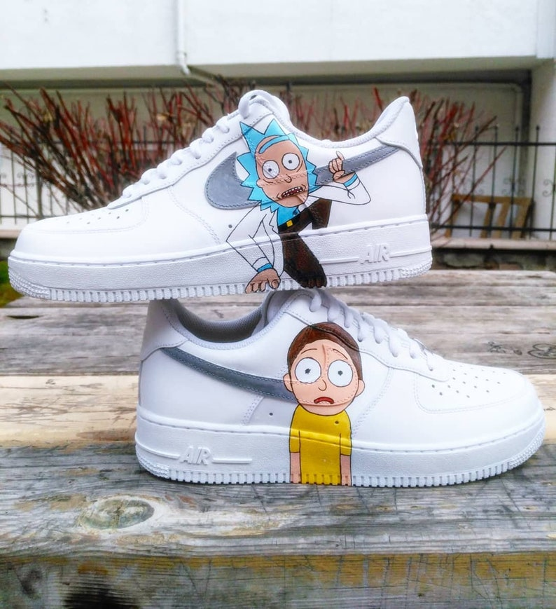0d57e8a444 Custom Nike Air Force one rick and mortycustom sneakers