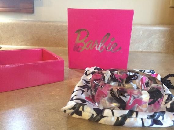 Lucite Barbie high heel shoes bangle bracelet