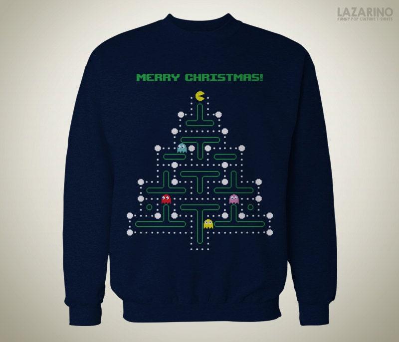 Weihnachten Pac-Man Pullover / hässlichen Pullover | Etsy