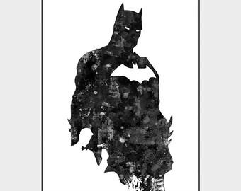 website for discount super popular delicate colors Batman art   Etsy