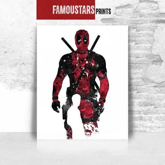 Deadpool Print Art Poster Marvel Comics X Men Wall