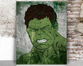 Hulk print, Marvel poster, Hulk, avengers, Superhero, Marvel comics, The Hulk, wall art, action hero, men gift, home decor, FamouStars