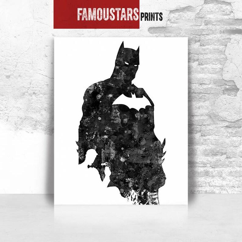 f14d492a2 Batman print poster wall art DC comics print Batman poster   Etsy