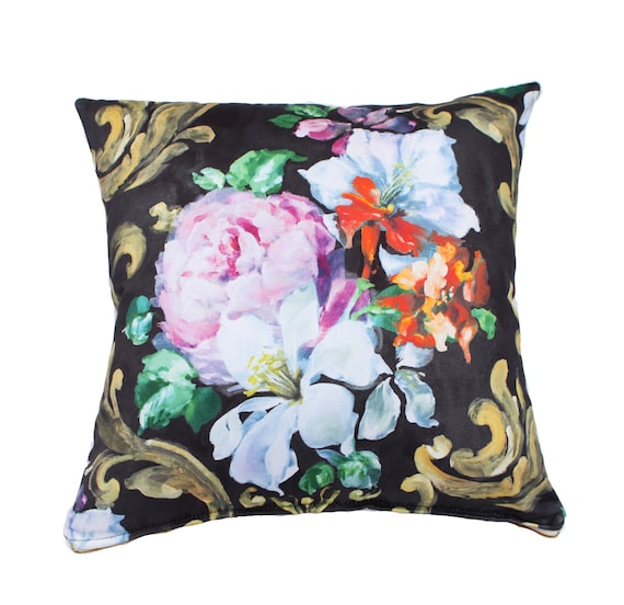 Floral Decorative Pillow Cover Multicolor Flower Pattern Etsy Extraordinary Multicolored Decorative Pillows