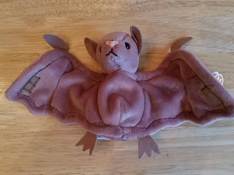 dc361ee46a2 SALE Brown color Batty The Bat by TY Beanie BABIES 1996 Rare