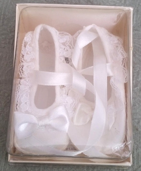 Baby Deer Christening Baby Shoes