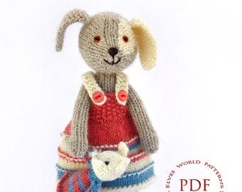 Pattern knitting dog Pattern toy Patterns pdf toy Pattern baby toy Pattern knitting toy Pattern child toy Patterns pdf dog  Pattern knit toy