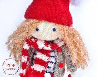 Knit doll pattern Pattern toy Pattern doll pdf Patterns pdf toy Pattern baby toy Making doll knit Toy knitting pattern Knitted doll making