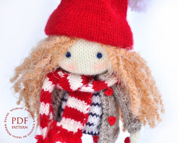 Knit Doll Pattern Pattern Toy Pattern Doll Pdf Patterns Pdf Toy