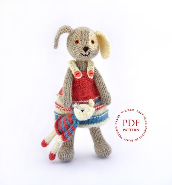 Pattern Knitting Dog Pattern Toy Patterns Pdf Toy Pattern Baby Etsy
