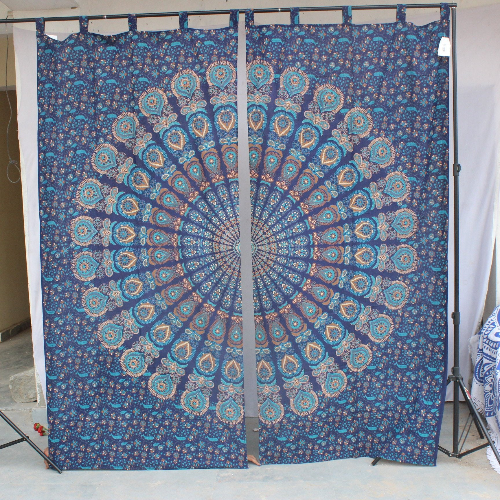 Curtains Blinds Cotton Hippie Door Curtain Decor Window Curtain Indian Mandala Elephant Tapestry Credify One