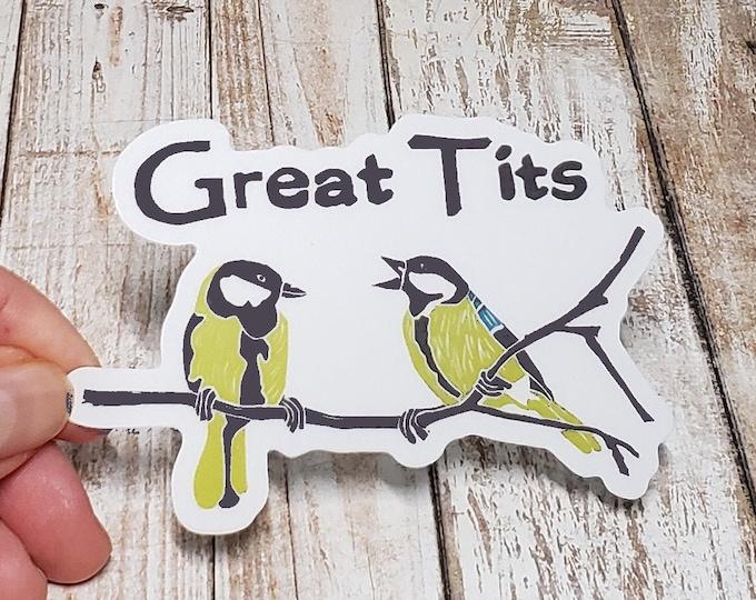 Great Tits Vinyl Sticker