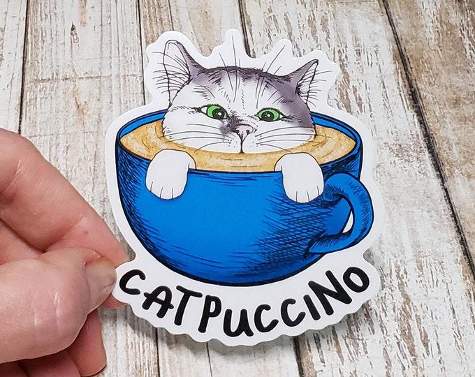 Catpuccino Vinyl Sticker