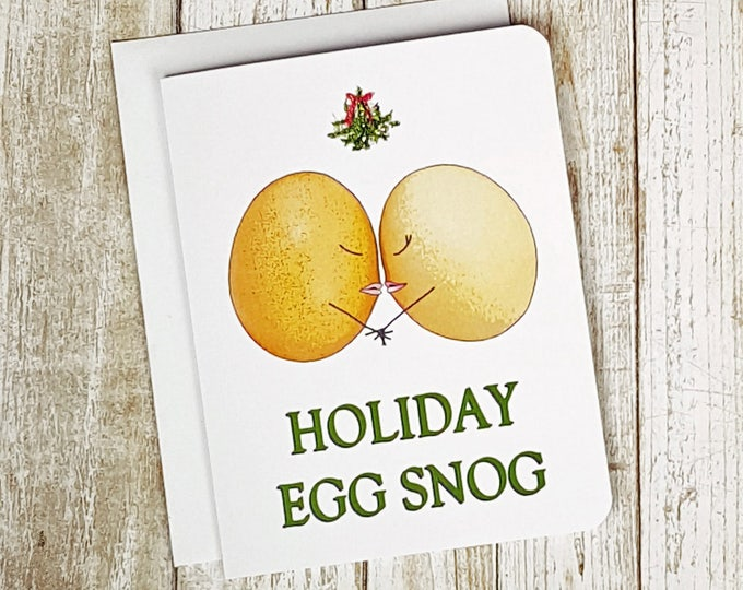 Holiday Egg Snog Christmas Card