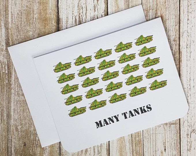 Many Tanks Thank-you Card