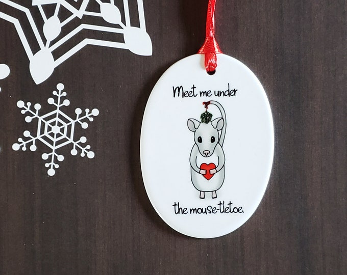 Meet Me Under The Mouse-tletoe Ornament