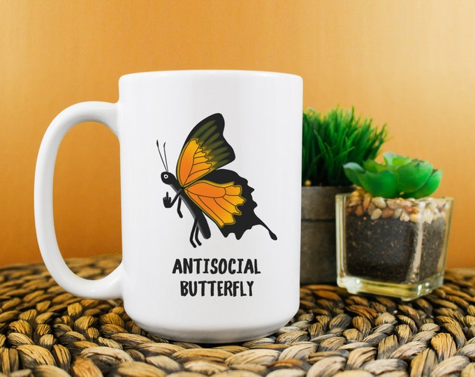 Antisocial Butterfly Mug 15oz
