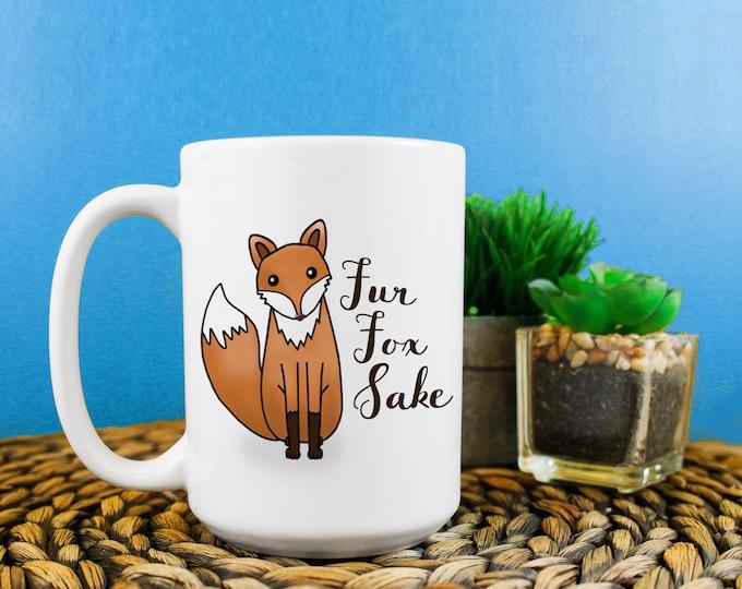 Fur Fox Sake Mug 15oz