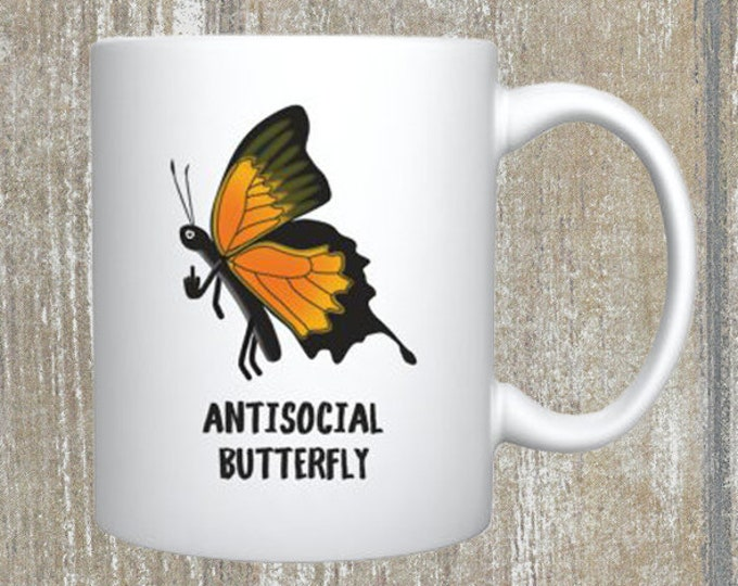 Antisocial Butterfly Mug