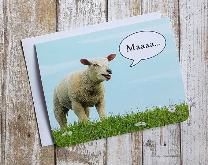 Maaa I Love Ewe - Mother's Day Card - Mom Card - Funny Mother's Day Card - Funny Card - Pun - Sheep