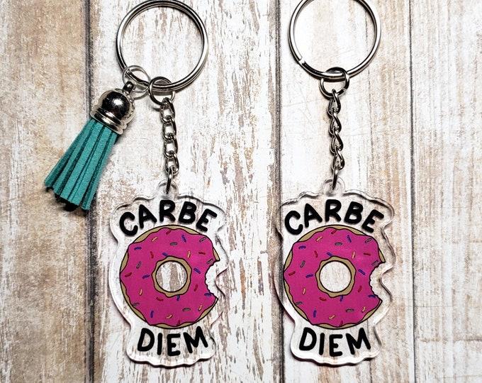 Carbe Diem Acrylic Keychain