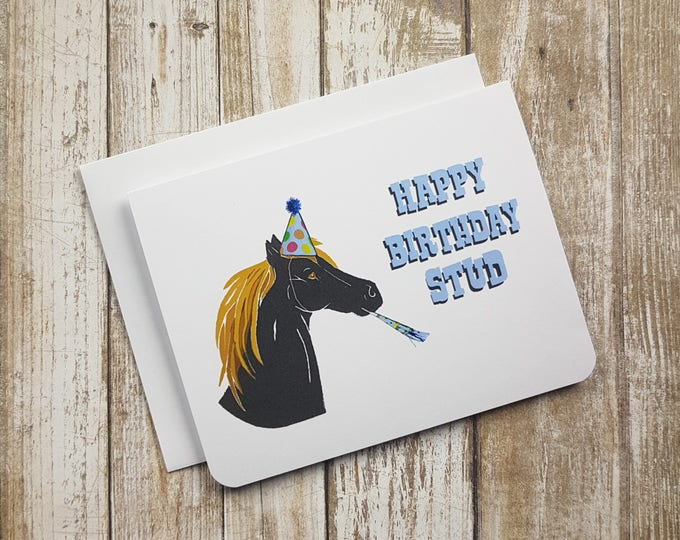 Happy Birthday Stud Card Item: C1147