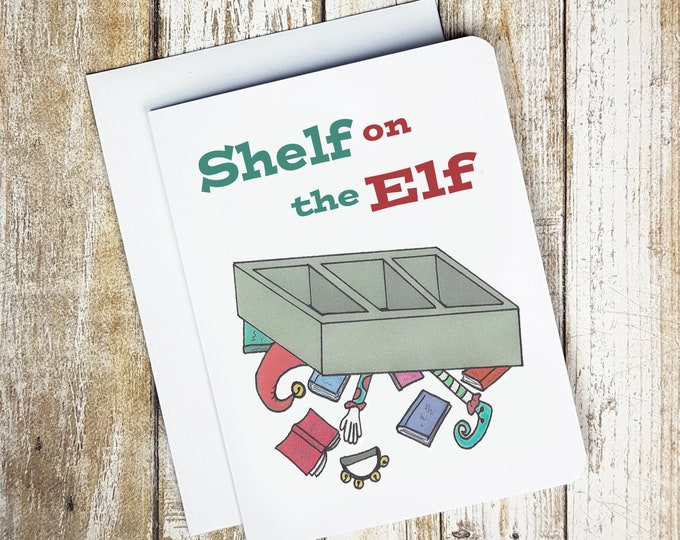 Shelf On The Elf Card