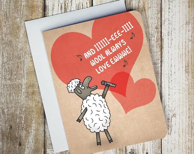 I Wool Always Love Ewe Card
