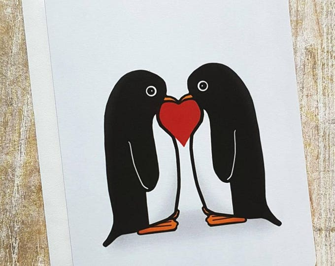 Together Forever Penguin Card