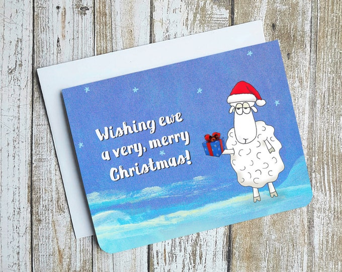 Wishing Ewe A Very Merry Christmas Card