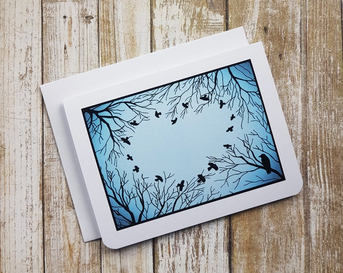 Love is in the Air - Love - Anniversary - Valentine - Romance - Birds - Trees - Heart - Crow - Raven