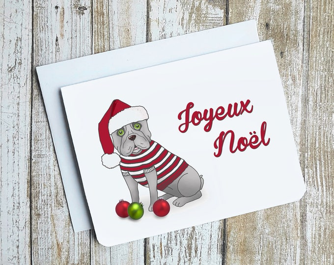 Joyeux Noel French Bulldog Card