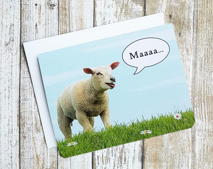 Maaa I Love Ewe Card