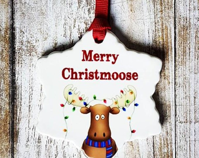 Merry Christmoose Ornament