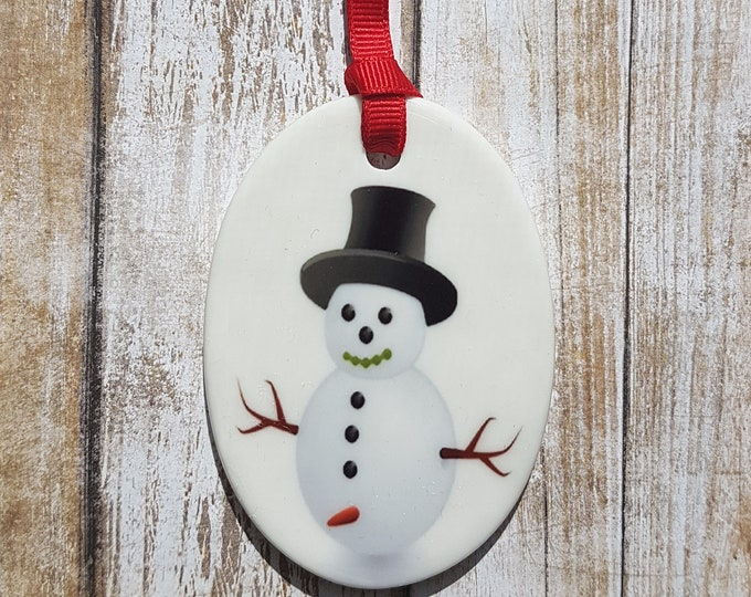 Naughty Snowman Ornament