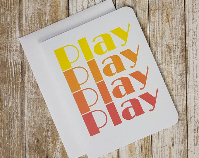 Four Play Greeting Card - Fore Play - Foreplay - Sexy Card -  Greeting Card - Ship - Play On Words - Funny Card - Typography