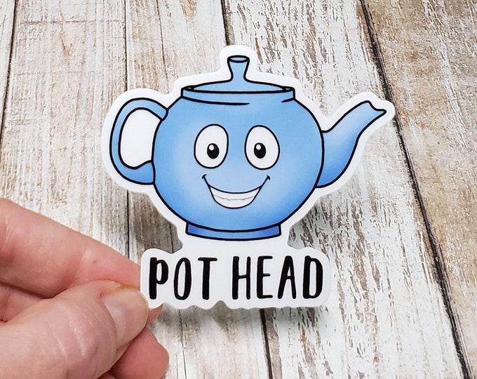 Pot Head (Tea) Vinyl Sticker
