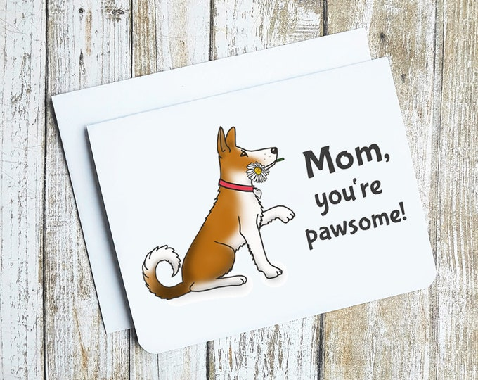 Mom, You're Pawsome Card